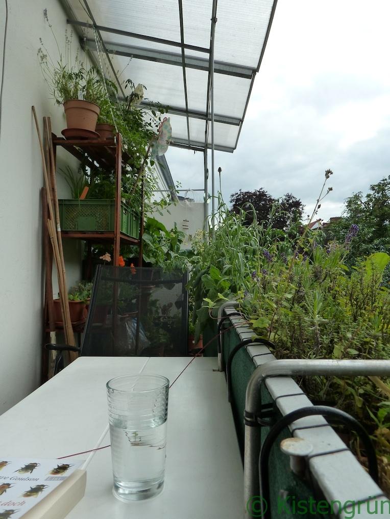 Balkongarten mit Dach