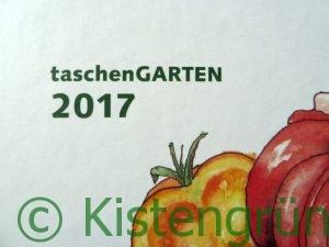 Cover des Gartenkalenders TaschenGarten2017 mit Tomaten