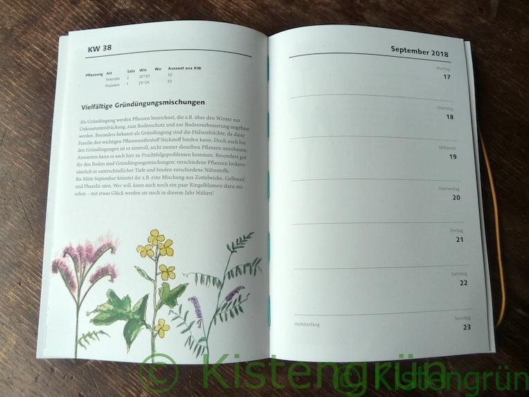 TaschenGarten ist Ratgeber, Terminplaner und Gartenkalender