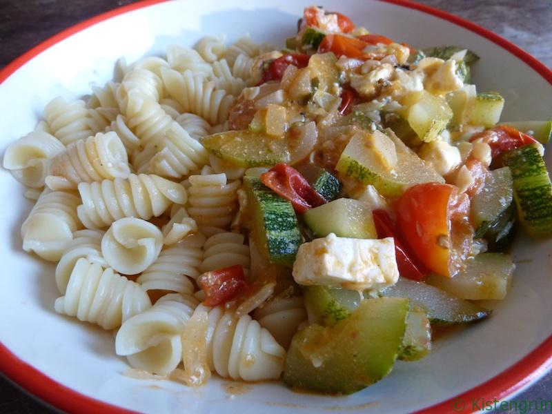 Zucchini aus dem Wok