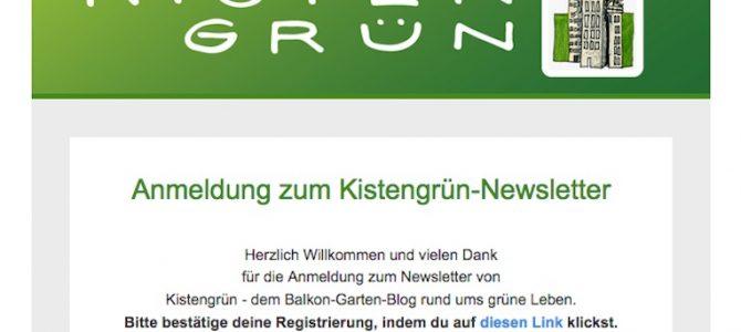 Melde dich jetzt für den neuen Kistengrün-Newsletter an!
