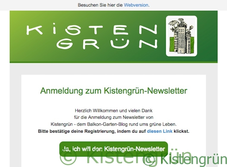Kistengrün-Newsletter