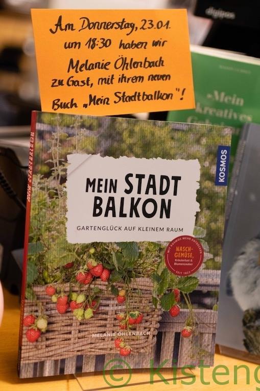 Ankündigung Buchpremiere Mein Stadtbalkon mit Melanie Öhlenbach